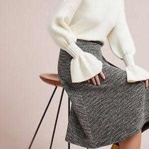 Anthropologie Isla Maude Marce Textured Skirt